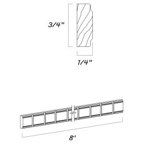 Dakota - Dentil Molding - 96