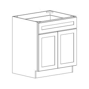 Colonial | White - Double Door Base - 36, 34 1/2, 23 3-4