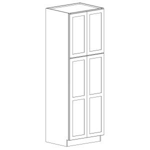 Colonial | White - Double Door Utility Pantry - 24, 84, 26