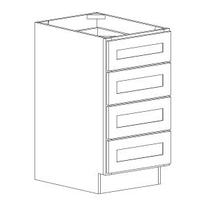 Dakota - Four Drawer Base - 15, 34 1/2, 24