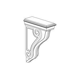 Graphite - Scroll Corbel Trim - 3.8125, 13, 8.875