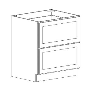 Dakota - Two Drawer Base - 30, 34 1/2, 24