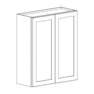 Colonial | White - Double Door Wall Cabinet - 24, 36, 12